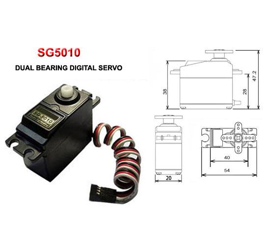 Sg5010 Dual Bearing Digital Servo